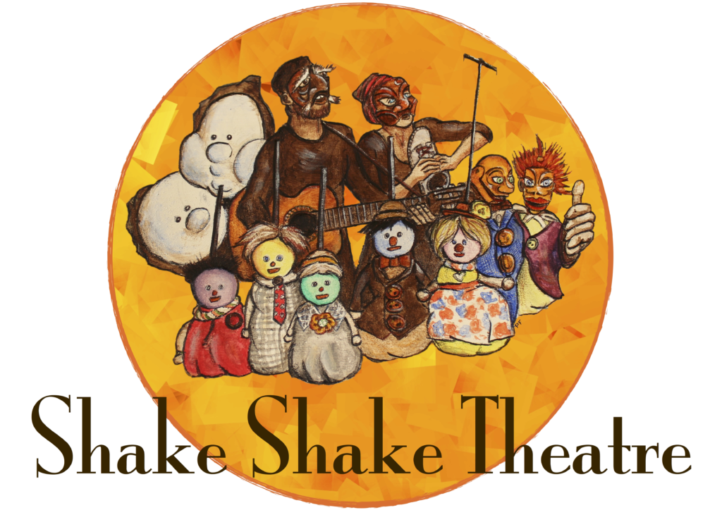 Shake Shake Theatre puppet and theatre company logo